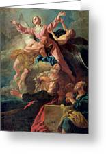 The Assumption Of The Virgin Greeting Card by Jean Francois de Troy