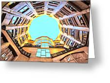 The Atrium At Casa Mila Greeting Card