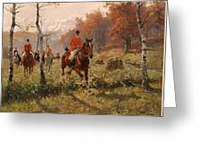 The Autumn Hunt Greeting Card