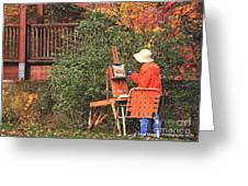 The Autumn Painter Greeting Card