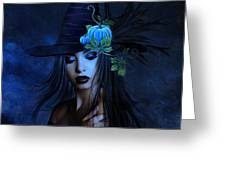 The Autumn Witch 02 Greeting Card