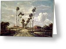The Avenue At Middelharnis Painting By Meindert Hobbema