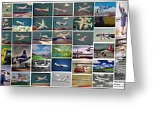 The Aviation Art Of Frank L Hunter Greeting Card