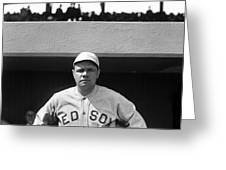 The Babe - Red Sox Greeting Card