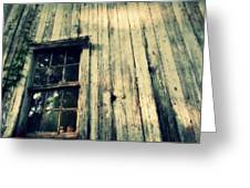 The Back Of An Old House On My Farm Greeting Card