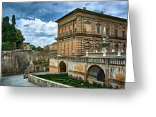 The Back Of The Pitti Palace In Florence Greeting Card