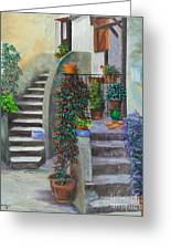 The Back Stairs Greeting Card
