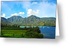 The Backside Of The Napali Coastline Greeting Card