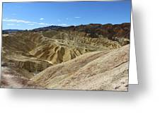 The Badlands Of Death Valley Greeting Card