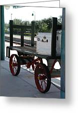 The Baggage Cart And Truck Greeting Card