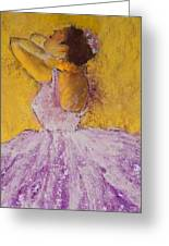 The Ballet Dancer Greeting Card