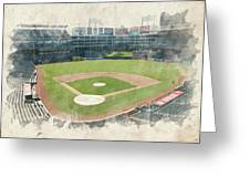 The Ballpark Greeting Card by Ricky Barnard
