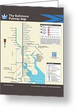 The Baltimore Pubway Map Greeting Card