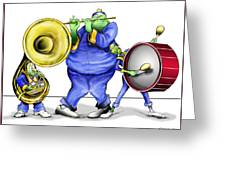 The Band Plays On Greeting Card