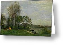 The Banks Of The Oise Greeting Card