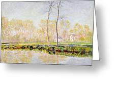 The Banks Of The River Epte At Giverny Greeting Card