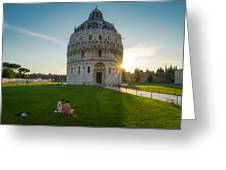 The Baptistery, Piazza Dei Miracoli Greeting Card