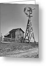 The Barn And Windmill Greeting Card
