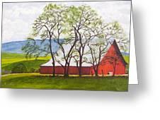 The Barn, 11x14, Oil, '07 Greeting Card