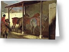The Barn Of Marechal-ferrant Greeting Card