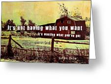 The Barn Quote Greeting Card
