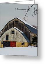 The Barn With A Red Door Greeting Card