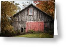 The Barn With The Red Door Greeting Card