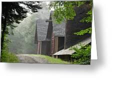 The Barns At Santanoni Greeting Card by Judy Olson