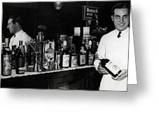 The Bartender Is Back - Prohibition Ends Dec 1933 Greeting Card