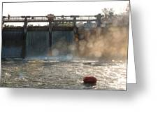 The Barton Lake Dam Greeting Card