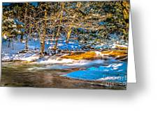 The Basin At Franconia Notch Greeting Card