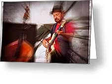 The Bass Player Greeting Card