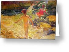 The Bath - Javea Greeting Card