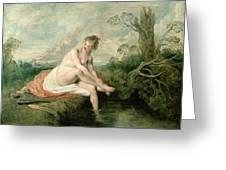 The Bath Of Diana Greeting Card