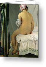 The Bather Greeting Card by Jean Auguste Dominique Ingres