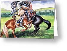 The Battle Of Bannockburn Greeting Card