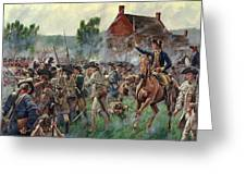 The Battle Of Brooklyn - Smallwood's Marylanders At The Old Stone House - Long Island  Greeting Card