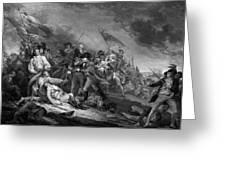 The Battle Of Bunker Hill Greeting Card