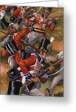 The Battle Of Corunna Greeting Card