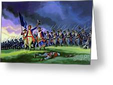 The Battle Of Saratoga, Showing A General Attack Led By Brigadier Arnold Greeting Card