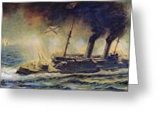The Battle Of The Gulf Of Riga Greeting Card