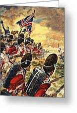The Battle Of Waterloo Greeting Card