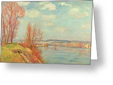 The Bay And The River Greeting Card by Jean Baptiste Armand Guillaumin