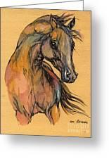 The Bay Arabian Horse 9 Greeting Card