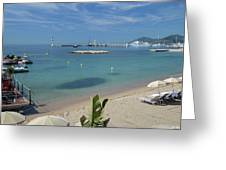 The Beach At Cannes Greeting Card