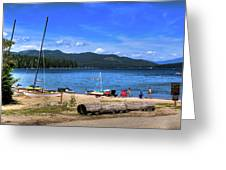 The Beach At Hill's Resort Greeting Card