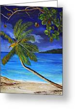 The Beach At Night Greeting Card