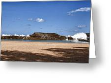 The Beach At Vega Baja Puerto Rico Greeting Card