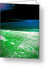 The Beach In Colors  Greeting Card