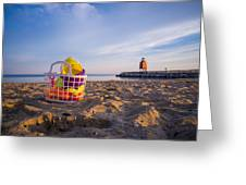 The Beach Is Calling Greeting Card